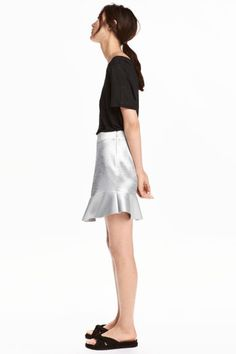 Short skirt in thick satin with a sheen. Concealed side zip and raw-edge flounce at hem. People Cutout, Cut Out People, Real People, Person Png, Persona Vector, Render People, People Png, Architecture People, Human Poses