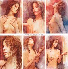 Warm Water Series - Artistic Nudes  by *AuroraInk