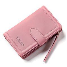 1d7888461 Pink+Grey Billeteras, Mochilas, Malas, Escolares, Mujeres, Monedero De  Tarjetas