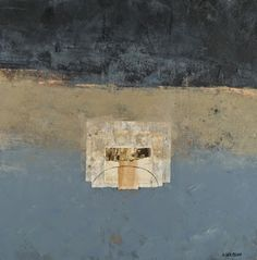 Cold wax and oil paints with collage by Donna Watson