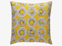 Habitat yellow Evelyn cushion