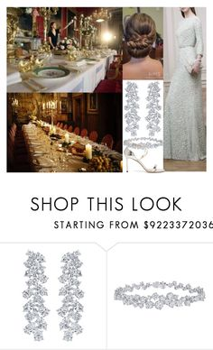 """Hosting the formal Christmas eve dinner at Edinburgh Castle"" by maryofscotland ❤ liked on Polyvore featuring Cuero, Harry Winston and Jimmy Choo"