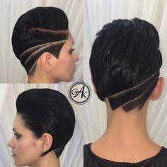 Diese 10 Kurzhaarfrisuren mit rasiertem Nacken sind total HOT! - Neue Frisur