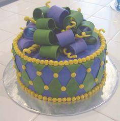 Mardi Gras Cake by mscakeslv, via Flickr