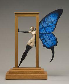 John Morris - Threshold, Wood, Paint 29cm x 24.5cm