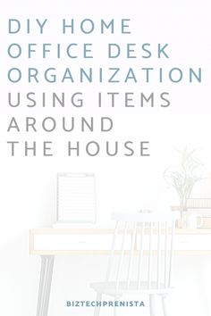 11 DIY Desk Organization Ideas Using Items Around the House – home office organization files Office Organization At Work, Organization Hacks, Office Storage, Office Ideas, Office Layouts, Office Inspo, Small Business From Home, Work From Home Tips, Home Office Space