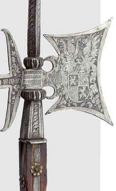 Engraved Halberd of the personal guard of Ferdinand of Bavaria, c.1584