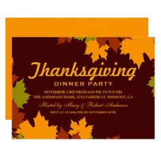 thanksgiving dinner invitation middle man card thanksgiving day