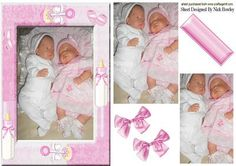 REBORN BABY GIRLS WITH BOWS PYRAMIDS on Craftsuprint - Add To Basket!