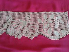 Pike Dantel Örnekleri 100 - Mimuu.com Filet Crochet, Crochet Borders, Crochet Lace, Crochet Patterns, Crochet Curtains, Crochet Tablecloth, Cross Stitch Bookmarks, Hairpin Lace, Lace Outfit