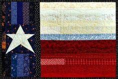 Texas flag quilt - this is amazing!  Whoever makes this for me will forever be my hero!