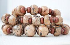 Jasper beads, polymer clay | Flickr - Photo Sharing!