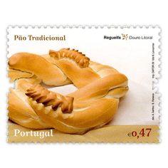 """Regueifa - Douro Litoral   Série de selos """"A Tradição do Pão em Portugal"""""""