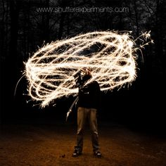 sparkler photography- love the long exposure shots!