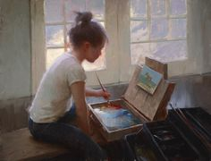 """""""Light and Color"""" oil on linen 16 x 21 inches by Jeremy Lipking"""