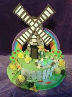 Windmill Handmade Easter Bonnet Hat Girls/Boys