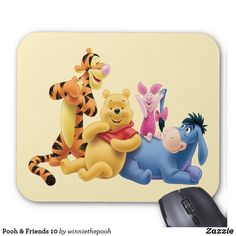 Shop Pooh & Friends 10 Mouse Pad created by winniethepooh. Personalize it with photos & text or purchase as is! Create Your Own Poster, New Employee, Custom Mouse Pads, Disney Merchandise, Marketing Materials, Disney Style, Winnie The Pooh, Your Favorite, Birthday Cards