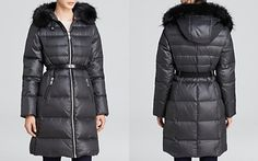Andrew Marc Gabby Belted Luxe Down Coat