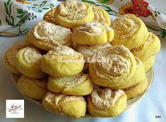 Kókuszkrémes csiga Dessert Recipes, Desserts, Pretzel Bites, Oreo, French Toast, Muffin, Food And Drink, Sweets, Cookies