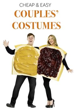 Want to do a couples' Halloween costume on the cheap, while keeping it classy? With a few DIY tricks and some imagination, it's easy. How about cardboard costumes that turn you into slices of bread, one with peanut butter and the other with jelly? Got overalls and caps? You could be Mario and Luigi from the popular video games. Browse the entire list of eBay's cheap and easy couples' costumes, and pick the one that best fits your personality as a pair!