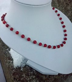 Handmade necklace  with Coral and sterling silver by TommyDark