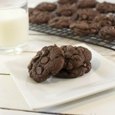 This is a simple recipe for some delicious and rich double chocolate chip cookies. If you're a fan of chocolate and more chocolate you'll love these cookies