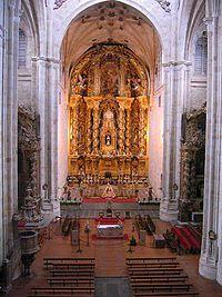 "High Altar - Jose Benito de Churriguera.  1693.  Wood.  H: approx 98' 6"".  San Esteban Monastery, Salamanca, Spain."