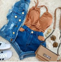 Teen Fashion Outfits, Swag Outfits, Mode Outfits, Cute Fashion, Outfits For Teens, Stylish Outfits, Girl Outfits, Cute Summer Outfits, Cute Casual Outfits