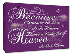 Great prices on your favourite Home brands, and free delivery on eligible orders. Wall Quotes, Love Quotes, Cheryl, Our Love, Wall Canvas, Purple, Pink, Heaven, Feelings