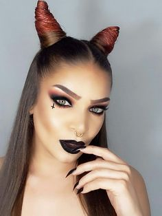 Devil makeup look by @andreyhaseraphin on instagram.