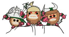 Moana Kakamora Coconuts Embroidery Machine Design  by WoobiesGifts