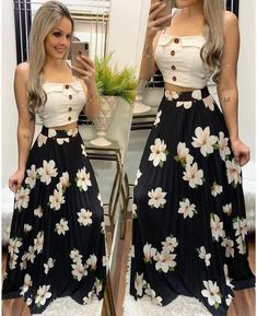 15 Looks con las Faldas Estampadas de Moda - Ourworld Tutorial and Ideas Classy Outfits, Trendy Outfits, Summer Outfits, Cute Outfits, Cute Dresses, Beautiful Dresses, Casual Dresses, Fashion Dresses, Skirt Outfits