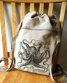 Poulpe à dos toile portable sac Gym sac sérigraphié