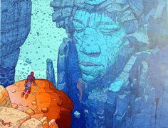 Hendrix Mountain (Limited Edition Print) (Signed) art by Moebius (Jean Giraud)