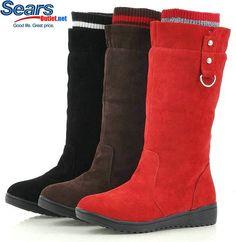 Women Winter Boots | Cheap Discount Fashion wedge women winter boots red black brown ...