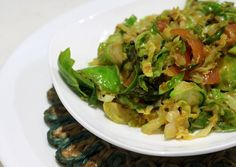 <p>A simple Indian transformation for wintery Brussels sprouts that will bring color and spark to your table.</p>