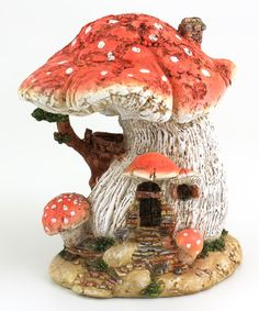 Love this Red Mushroom Fairy House Décor on #zulily! #zulilyfinds