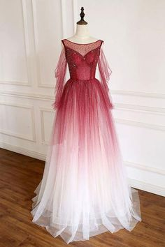 Burgundy tulle sequin long prom dress burgundy tulle formal dress B146 – shinydress Burgundy Evening Dress, Evening Dresses, Prom Dresses, Bridesmaid Dresses, Formal Dresses, Dress Prom, Club Dresses, Tulle Lace, Tulle Dress