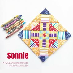 A tutorial to make the Sonnie block, number 92 in the Farmer's Wife 1930s Sew Along. Read my tips for getting your block more accurate than mine!