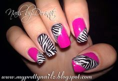My Pretty Nailz: Fun Zebra Print Konad Nail Art Design