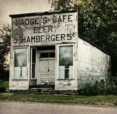 Abandoned burger stand in Wayne County, IA.