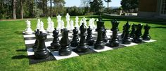 Giant chess on the lower lawn