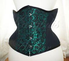 Victorian underbust emerald green brocade and by KarybdisAtelier, €100.00