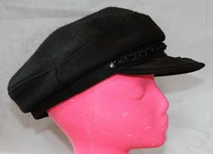 Vintage Green Fisherman's Hat, Black, Made in Greece by ilovevintagestuff on Etsy