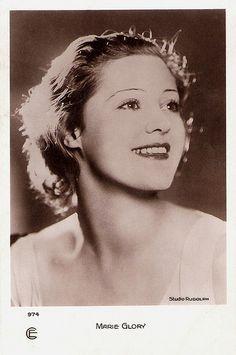 Marie Glory. French postcard by Editions et Publications cinématographiques, no. 974. Photo: Studio Rudolph.