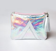 Holographic Bag Hologram Leather Purse Mermaid by gmaloudesigns