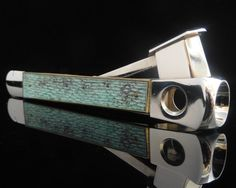 PFEILRING SOLINGEN Cigar Cutter with Verdigris Decor 5650-DBGM // Mid Century German Smokers' Articles