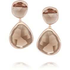 Monica Vinader Siren rose gold-plated quartz earrings (390 CAD) ❤ liked on Polyvore featuring jewelry, earrings, accessories, brincos, jóias, grey, rose gold plated jewelry, monica vinader, rose gold plated earrings and quartz jewelry