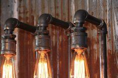 Steampunk Lamp Industrial Machine Age Steam Gauge Light Train Loft Wall Sconce