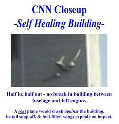 Plane wings would be seen breaking off on impact not being swallowed into the building.
